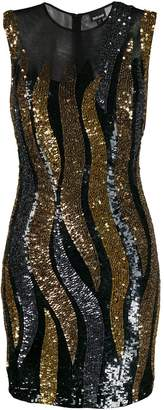 Just Cavalli sequin fitted dress