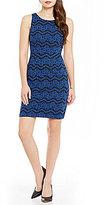 Jessica Simpson Bonded Lace Sheath Dress