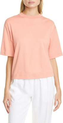 Vince Wide Sleeve Crop Pima Cotton T-Shirt