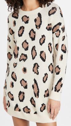 Line & Dot Gianna Leopard Sweater Dress