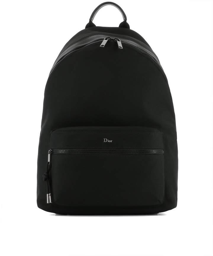 Christian Dior Black Fabric Backpack