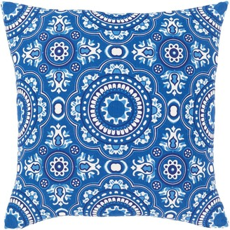 Overstock Lapis Bohemian 18-inch Poly or Feather Down Filled Throw Pillow