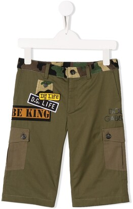 Dolce & Gabbana Kids Cargo Shorts With Patch Detailing
