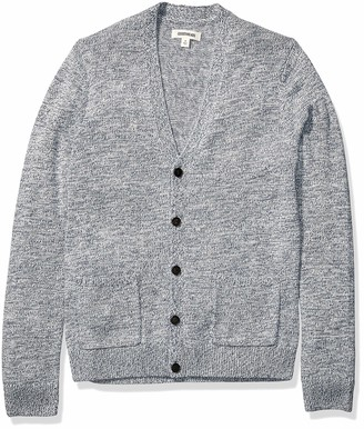 Goodthreads Amazon Brand Men's Supersoft Marled Cardigan Sweater