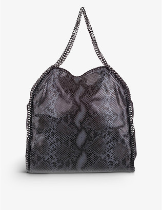 Pre-loved Stella McCartney snake-print faux-leather tote bag