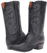 Lucchese Nick (Black Ostrich) Men's Boots