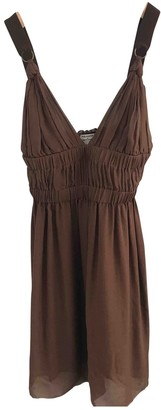 Philosophy di Alberta Ferretti Brown Silk Dress for Women