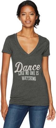 Chin Up Chin-Up Women's Dance Like No One's Watching V-Neck Graphic T-Shirt
