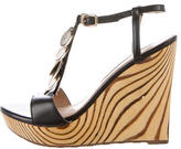 Diane von Furstenberg Leather Wedge Sandals