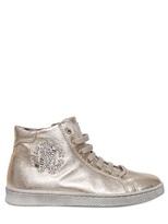 Roberto Cavalli Laminated Leather Sneakers