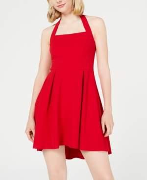 Teeze Me Juniors' High-Low Halter Dress