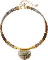 Nakamol Beaded Triple-Strand Labradorite Choker Necklace