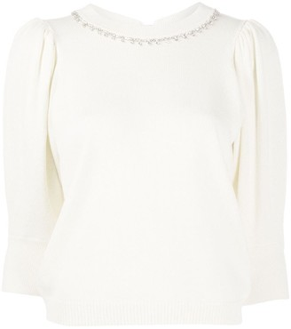 BA&SH Nea cropped sleeve jumper