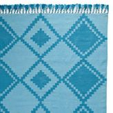 Turquoise Mayan Cotton Dhurrie