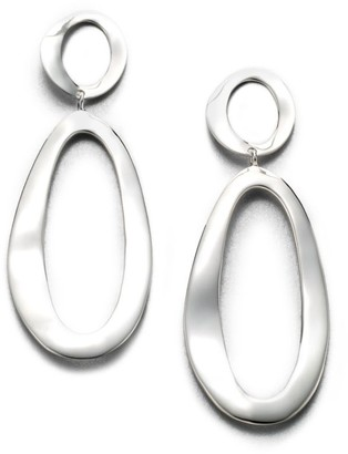 Ippolita Classico Large Sterling Silver Smooth Snowman Double-Drop Earrings