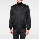 Paul Smith Mens Black Wool-Mohair Textured Bomber Jacket