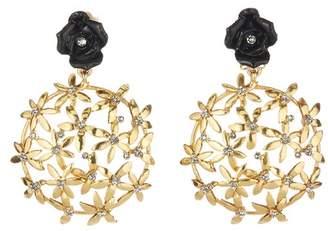 Oscar de la Renta Rose Flower Earrings