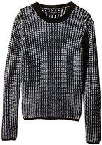 Teddy Smith Girl's Fully Printed Round Collar Long sleeve Sweatshirt - Black -