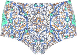 Tory Burch Printed High-Waisted Bikini Bottoms