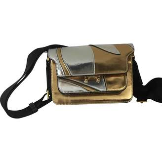 Marni Trunk Gold Patent leather Handbags