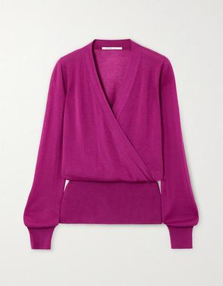 Agnona Wrap-effect Cashmere Sweater - Magenta