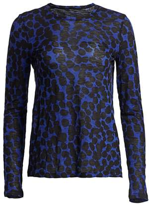 Proenza Schouler Dotted Tissue Jersey Cotton Tee