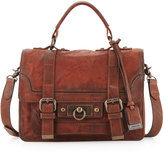 Frye Cameron Small Satchel Bag, Cognac