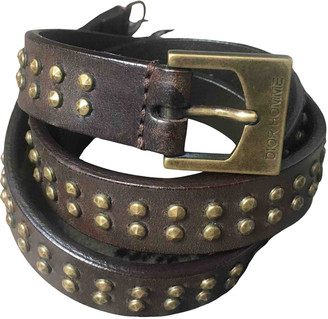 Christian Dior Brown Leather Belts