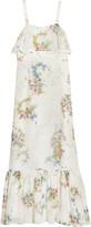 Topshop Hambledon Floral-Print Silk-Georgette Maxi Dress