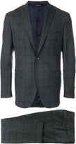 Tonello classic slim-ft checked suit