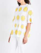Christopher Kane Sunshine-print cotton-jersey T-shirt
