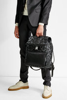 Dolce & Gabbana Printed Backpack with Leather