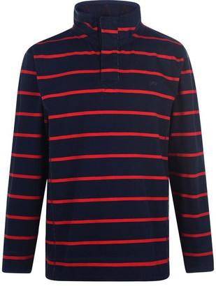 Raging Bull Striped quarter Zip Pullover