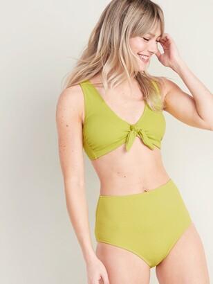 Old Navy Textured Pique Tie-Front Bikini Swim Top for Women