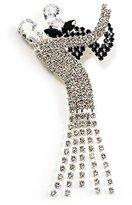 Avalaya 'Dancing Couple' Crystal Brooch (Clear&)