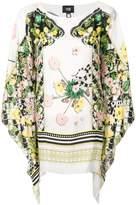 Class Roberto Cavalli draped printed blouse