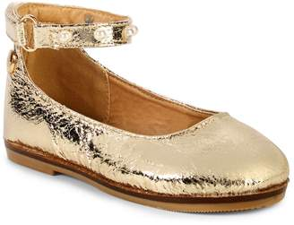 Nicole Miller Baby Girl's & Little Girl's Faux Pearl-Trimmed Flats