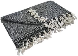 Slate & Salt Diamond Turkish Throw Blanket
