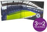 Chelsea Fc Stadium Image Leather Wallet