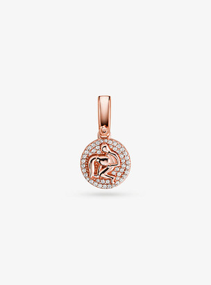 Michael Kors 14K Rose Gold-Plated Sterling Silver Pave Aquarius Zodiac Charm