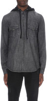 The Kooples Hooded denim shirt