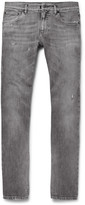 Dolce & Gabbana - Skinny-fit Distressed Stretch-denim Jeans