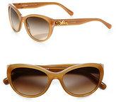Dolce & Gabbana Rose Embellished Cat's-Eye Sunglasses