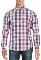 Ben Sherman Plaid Cotton Sportshirt