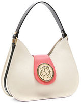 Braccialini Federica Saffiano Leather Hobo Bag