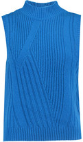 Diane von Furstenberg Ediva Ribbed Wool And Cashmere-Blend Sweater