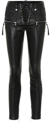 Unravel Leather skinny pants