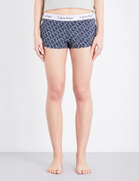 Calvin Klein Geometric-print stretch-cotton pyjama shorts