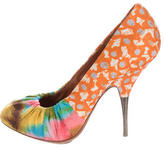 Dries Van Noten Printed Round-Toe Pumps
