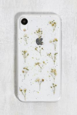 Urban Outfitters White Glitter Flower iPhone XR Phone Case - White ALL at